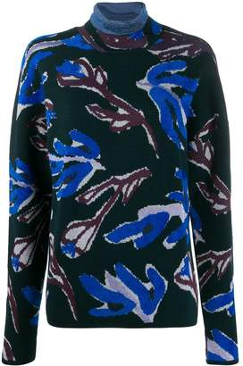 Christian Wijnants Kyria floral print roll neck jumper