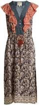 Sea Maho Border floral-print silk dress