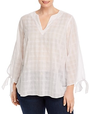 MICHAEL Michael Kors Cotton Tie-Sleeve Top