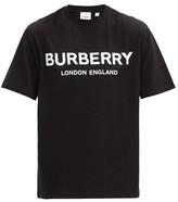 Burberry Letchford Logo-print Cotton T-shirt - Mens - Black