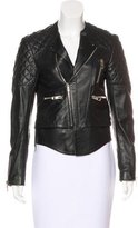Balenciaga Quilted-Paneled Leather Jacket