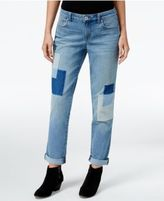 Style&Co. Style & Co Patchwork Disco Wash Boyfriend Jeans, Only at Macy's