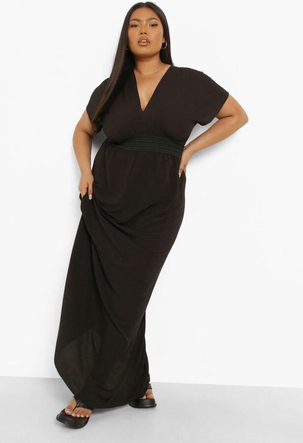 boohoo Plus Plunge Beach Maxi Dress