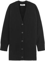 Jil Sander Oversized Wool And Cashmere-blend Cardigan - Black