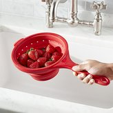"Crate & Barrel 8"" Collapsible Silicone Strainer"