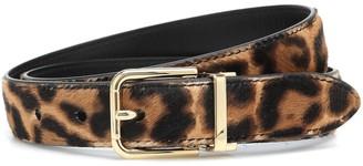 Dolce & Gabbana Leopard-print calf hair belt