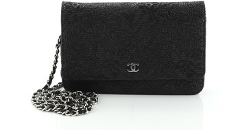 Chanel Wallet on Chain Lace Embossed Goatskin