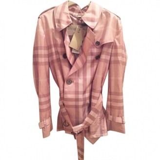 Burberry Pink Trench Coat for Women