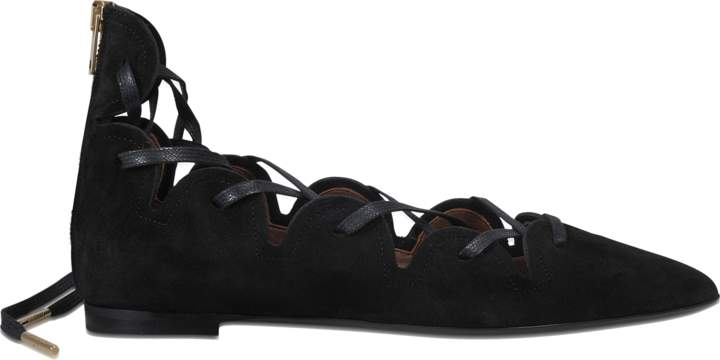 Burberry Hiles lace up ballerina