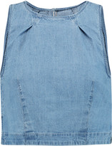 3x1 Cropped denim top