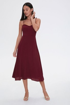 Forever 21 Tie-Strap Sweetheart Dress