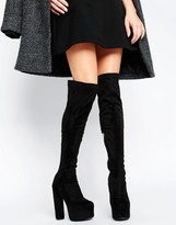 Truffle Collection Truffle Platform Round Heel Over The Knee Boot