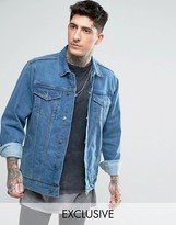 Reclaimed Vintage Inspired Oversized Denim Jacket In Blue