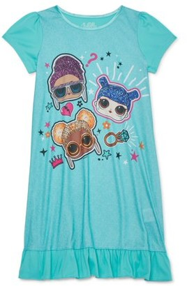 L.O.L Surprise! L.O.L. Surprise! Girls 4-10 Short Sleeve Pajama Nightgown