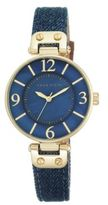 Anne Klein Goldtone Blue Denim Strap Watch, 10-9168BMDD