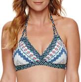 Liz Claiborne Pattern Halter Swimsuit Top