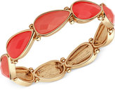 Nine West Gold-Tone Red Stone Stretch Bracelet