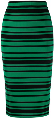 Plan C Striped Pull-On Skirt
