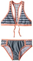 Splendid Littles Avalon Eyelet Halter Retro Pants Girl's Swimwear Sets