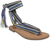 Sam & Libby Women's Blossom Braided Wrap Gladiator Sandals