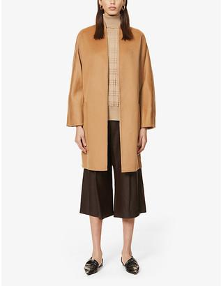 Vince V-neck wool and cashmere-blend coat