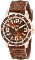 XOXO Women's XO8068 Analog Silicone Strap Watch