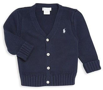 Ralph Lauren Baby's Combed Cotton V-Neck Cardigan