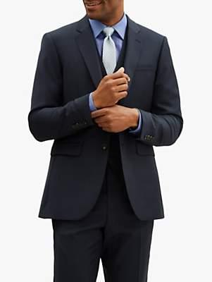 Jaeger Sharkskin Wool Slim Fit Suit Jacket, Navy