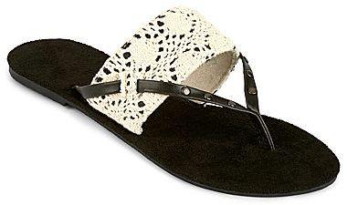 JCPenney Crochet Shield Flip Flops