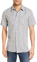 Billy Reid Men's Clarence Geo Print Sport Shirt