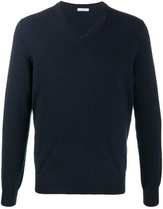 Malo V-neck ribbed knit sweater