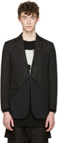 D.gnak By Kang.d Black Oblique Blazer