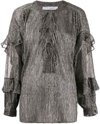 IRO metallic fibre blouse