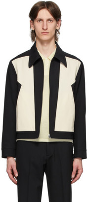 Off-White Second/Layer Black and Zig-Zag Panel Jacket