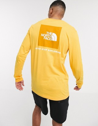 The North Face Red Box long sleeve t-shirt in yellow