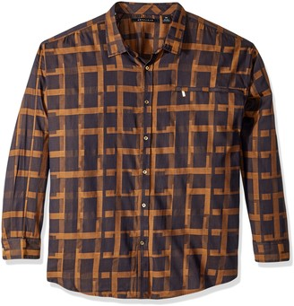 Sean John Men's Long Sleeve Graphic Check Shirt