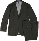 English Laundry Black & Green Tartan Slim Fit Pattern Suit Jacket & Pants