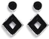 Kenneth Jay Lane Beaded rhombus drop earrings