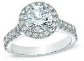 Zales 2 CT. T.W. Certified Diamond Frame Engagement Ring in Platinum (H/SI2)