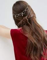 Asos Fine Filigree Faux Pearl Back Hair Crown