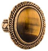 Stephen Dweck Tiger's Eye Cocktail Ring