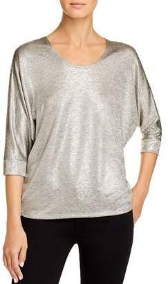 Kim & Cami Metallic Dolman-Sleeve Top