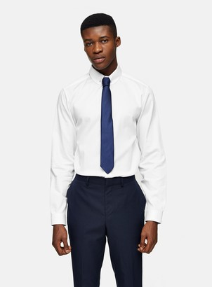 TopmanTopman White Penny Collar Slim Shirt
