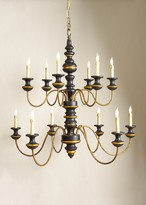The Well Appointed House Stockholm Chandelier in Black and Gold - LOW STOCK - ORDER NOW !