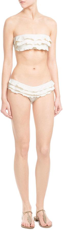 OndadeMar Scoop Ruffle Bikini Bottoms