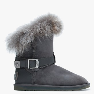 Australia Luxe Collective Tsar Short Grey Double Faced Sheepskin Ankle Boots