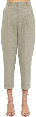 Etoile Isabel Marant Lowea Cropped Cotton Canvas Pants