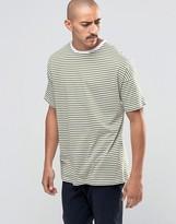 Asos Oversized Stripe T-Shirt In Green