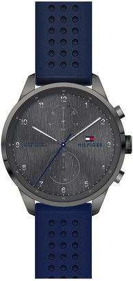 Tommy Hilfiger Men's Chase Leather Strap Watch, 44mm
