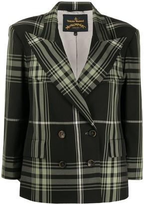 Vivienne Westwood Plaid Boxy Blazer